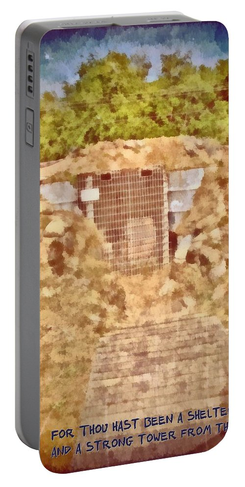 Jesus Portable Battery Charger featuring the digital art Psalm 61 3 by Michelle Greene Wheeler