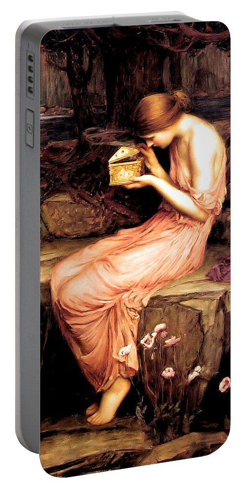 John Portable Battery Charger featuring the painting Psyche Opening The Golden Box 1903 by Philip Ralley