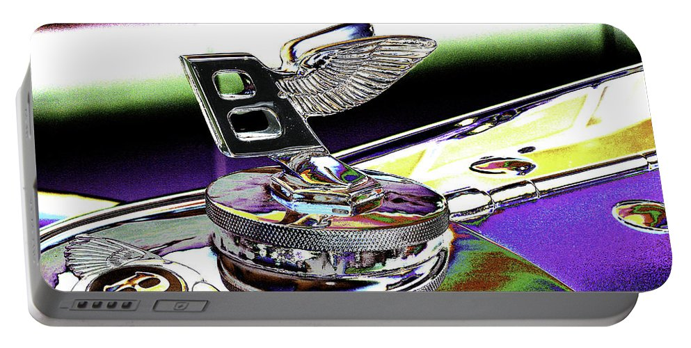 Psychedelic Portable Battery Charger featuring the photograph Psychedelic Bentley Mascot 2 by Peter Lloyd