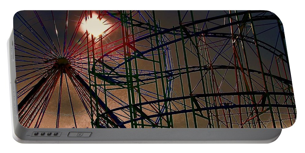 Architectural Art Portable Battery Charger featuring the photograph Psychedelic Ride by Robert McCubbin