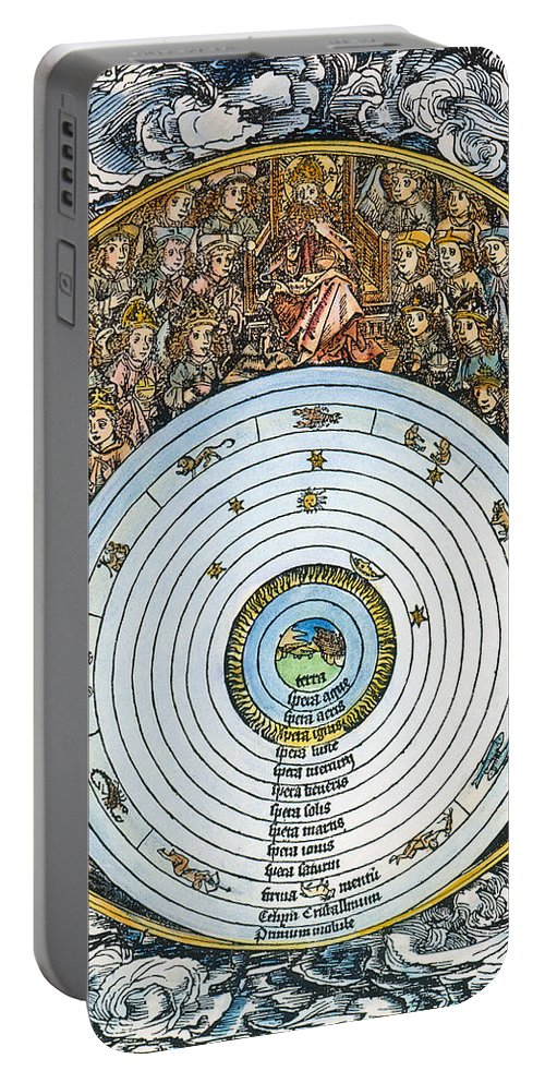 1493 Portable Battery Charger featuring the photograph Ptolemaic Universe, 1493 by Granger