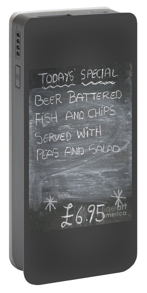 Britain Portable Battery Charger featuring the photograph Pub Special by Ann Horn
