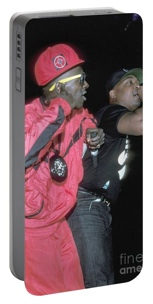 Performing Portable Battery Charger featuring the photograph Public Enemy by Concert Photos