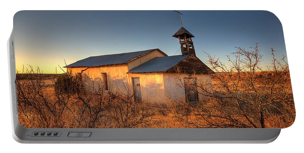 Church Portable Battery Charger featuring the photograph Pueblo Church by Peter Tellone