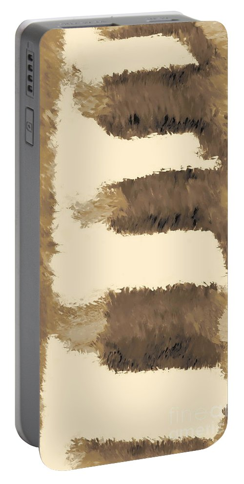Digital Abstract Painting Portable Battery Charger featuring the digital art Pueblo Steps Se by Tim Richards