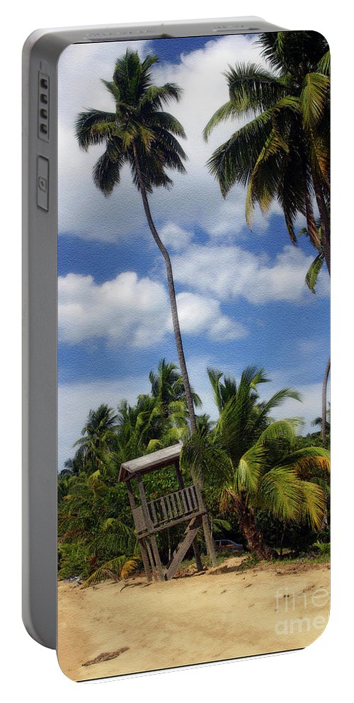 Palms Portable Battery Charger featuring the photograph Puerto Rico Palms II by Madeline Ellis