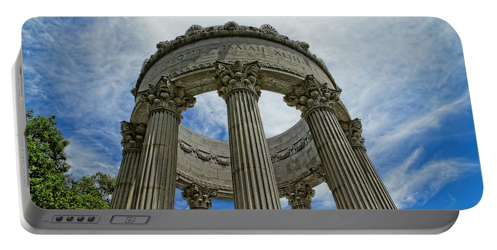 Pulgas Water Temple Portable Battery Charger featuring the photograph Pulgas Water Temple by Scott Hill