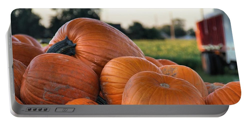 Autumn Portable Battery Charger featuring the photograph Pumpkins by Dan Sproul