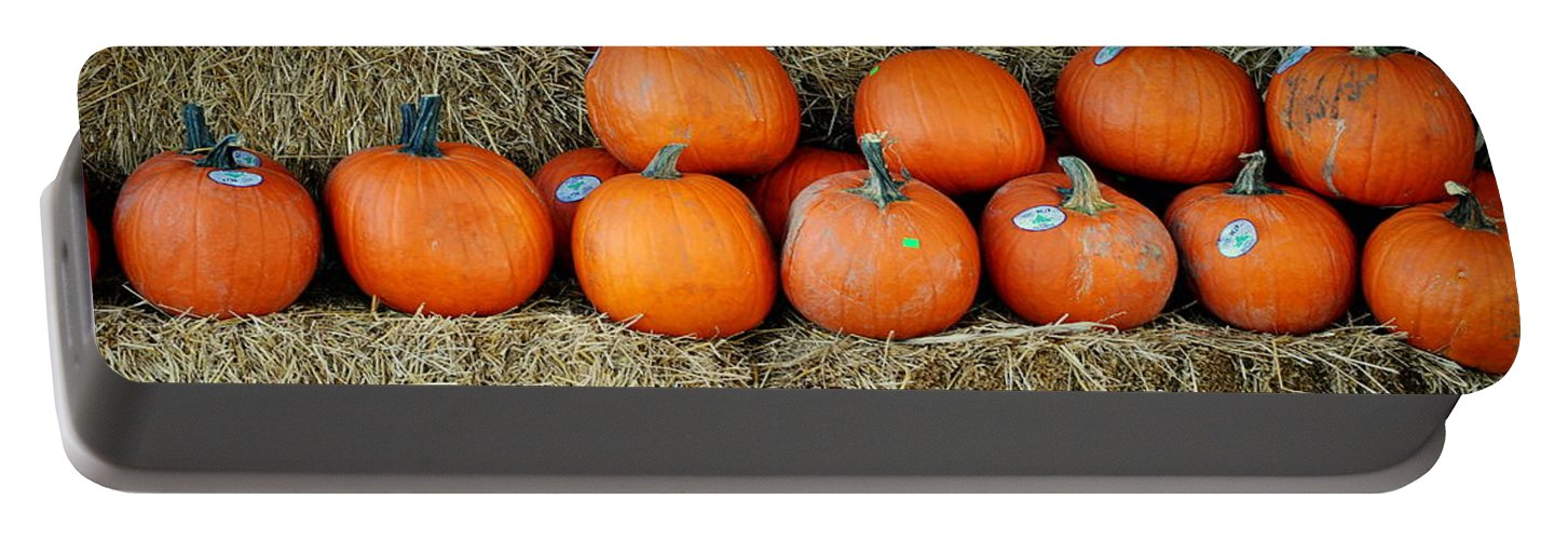 Pumpkins Portable Battery Charger featuring the photograph Pumpkins by Frozen in Time Fine Art Photography