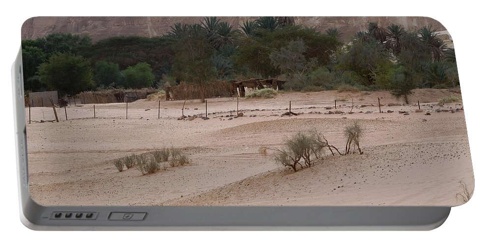 Colette Portable Battery Charger featuring the photograph Pure Fine Sinai Oase Desert Egypt by Colette V Hera Guggenheim
