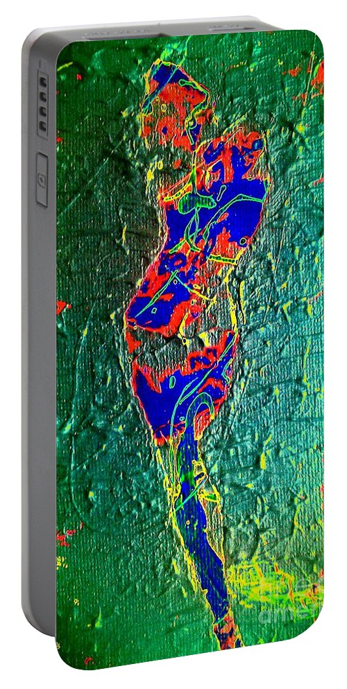 Energy Portable Battery Charger featuring the painting Her Potential by Jacqueline McReynolds