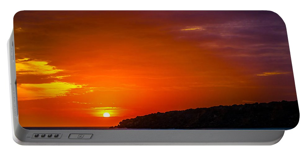 Sunset Portable Battery Charger featuring the photograph Purple And Orange Sunset by Jess Kraft