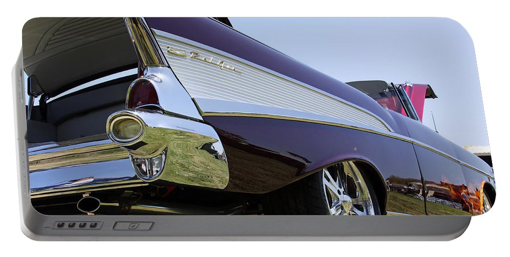 Chevy Bel Air Portable Battery Charger featuring the photograph Purple And Sexy by Shoal Hollingsworth