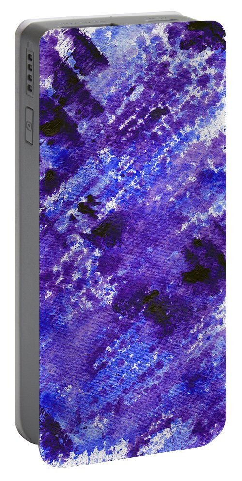Purple Portable Battery Charger featuring the painting Purple by Eric Forster