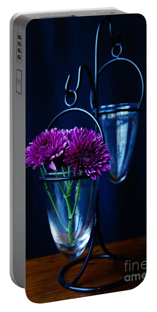 Flower Portable Battery Charger featuring the photograph Purple Flowers Still Life by Kerri Mortenson