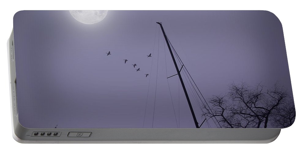 2d Portable Battery Charger featuring the photograph Purple Night by Brian Wallace