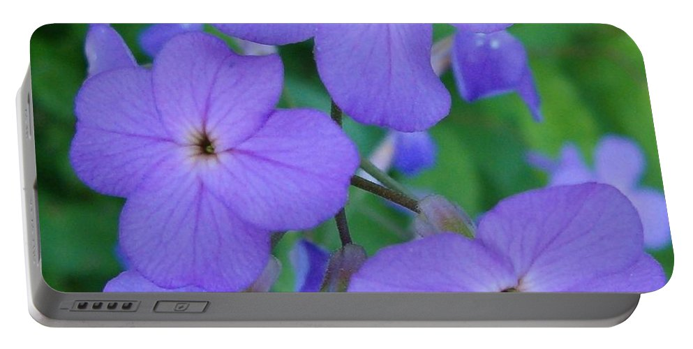 Flowers Portable Battery Charger featuring the photograph Purple Passion by Sara Raber