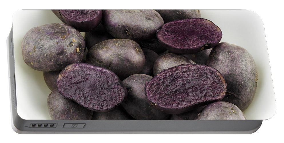 Purple Portable Battery Charger featuring the photograph Purple Potatoes by Lee Serenethos