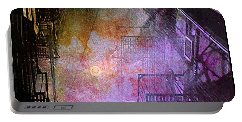 Rain Portable Battery Charger featuring the photograph Purple Rain by Ellen Cannon