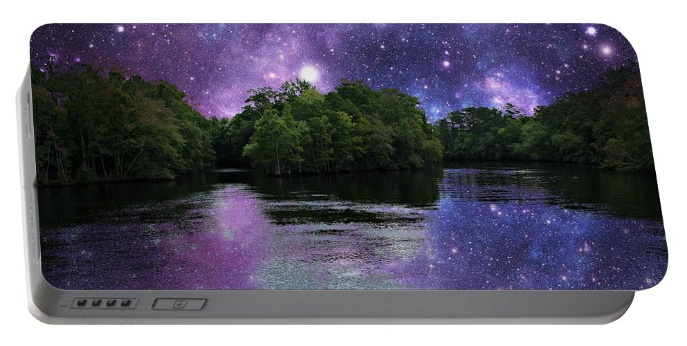 Stars Portable Battery Charger featuring the photograph Purple Takeover by Michele Nelson