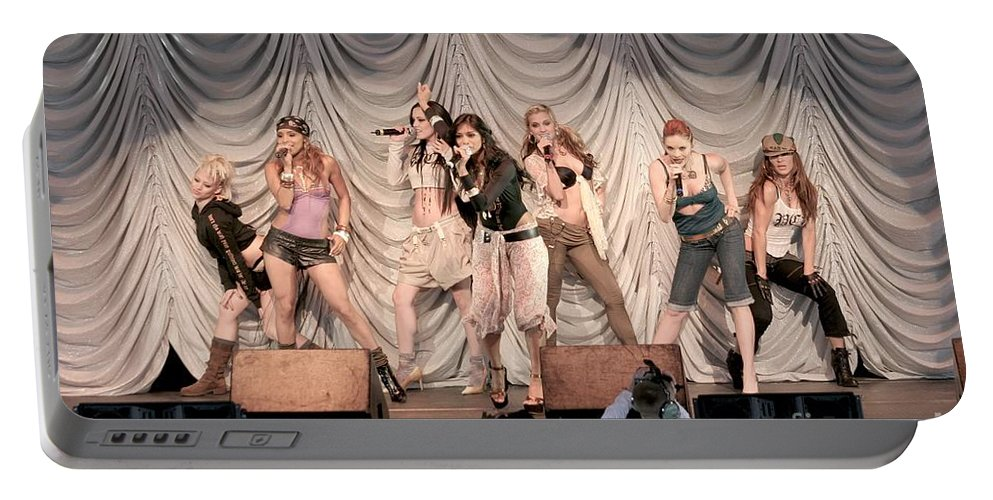 Singer Portable Battery Charger featuring the photograph Pussycat Dolls by Concert Photos
