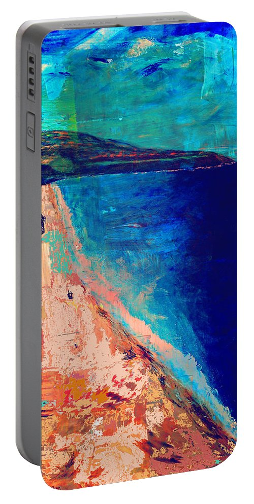 Seascape Portable Battery Charger featuring the painting Pv Abstract by Jamie Frier