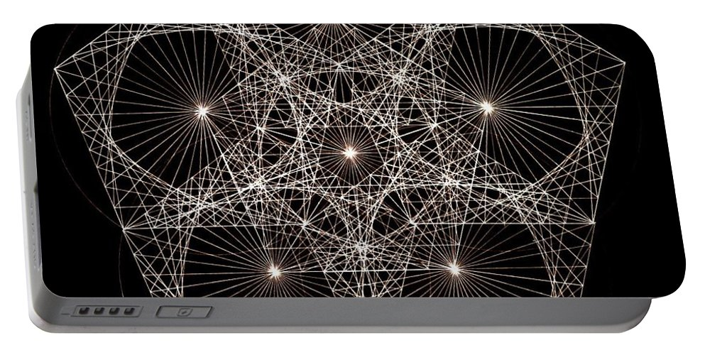 Star Portable Battery Charger featuring the drawing Quantum Star II by Jason Padgett