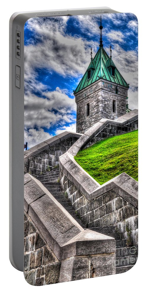 Quebec Portable Battery Charger featuring the photograph Quebec City Fortress Gates by Bianca Nadeau