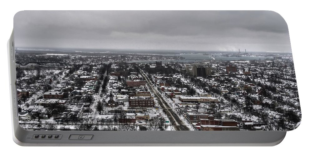Buffalo Portable Battery Charger featuring the photograph Queen City Winter Wonderland After The Storm Series 0010 by Michael Frank Jr