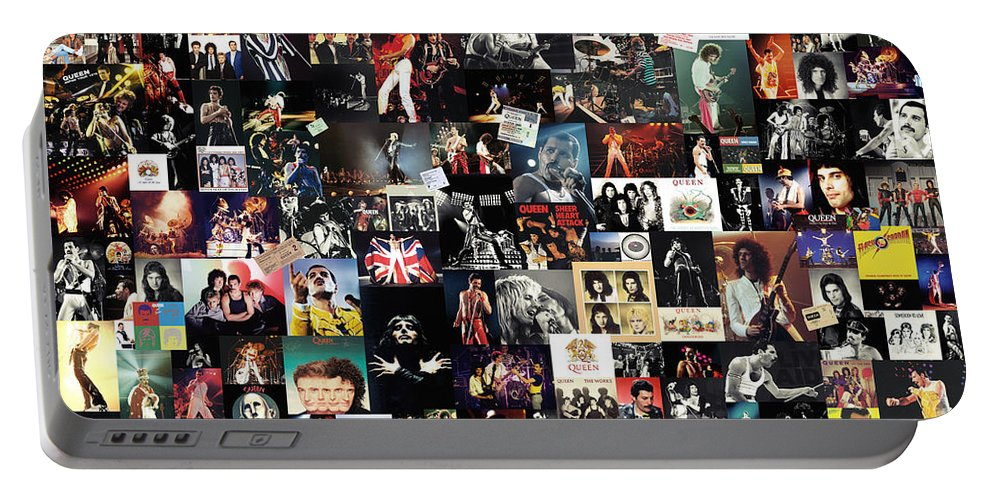 Queen Portable Battery Charger featuring the digital art Queen Collage by Zapista OU