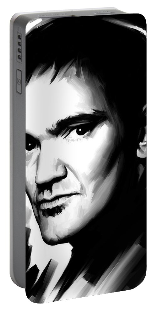 Quentin Tarantino Paintings Portable Battery Charger featuring the painting Quentin Tarantino Artwork 2 by Sheraz A