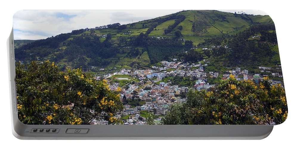 Quito Portable Battery Charger featuring the photograph Quito From El Panecillo by Kurt Van Wagner