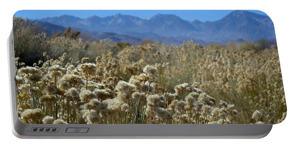 Rabbit Brush Portable Battery Charger featuring the photograph Rabbit Brush Owens Valley by Christine Owens