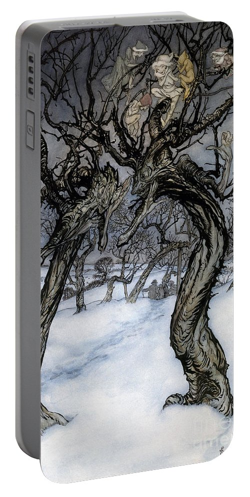 1921 Portable Battery Charger featuring the photograph Rackham: Whisper Trees by Granger