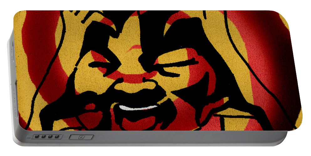 Red Portable Battery Charger featuring the digital art Rage by Samantha Geernaert