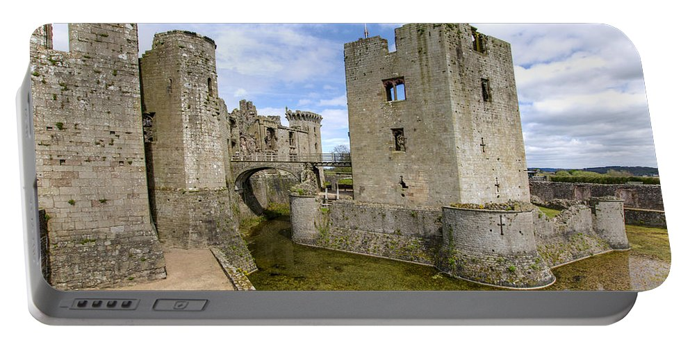 Raglan Portable Battery Charger featuring the photograph Raglan Castle - 5 by Paul Cannon