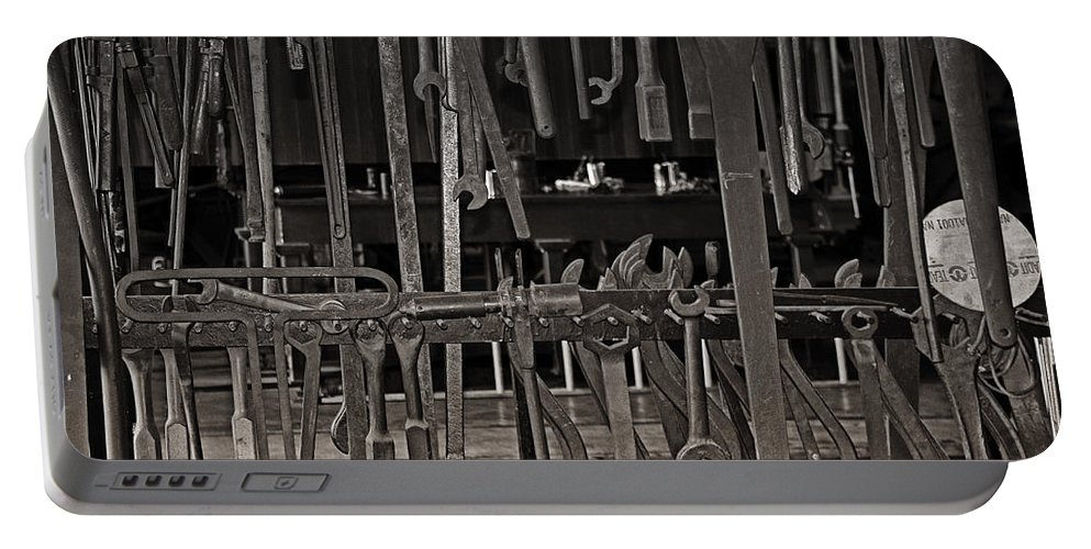 Wrenches Portable Battery Charger featuring the photograph Railroad Wrenches by Debby Richards