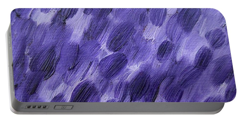 Rain Portable Battery Charger featuring the painting Rain 2 by Patrick J Murphy