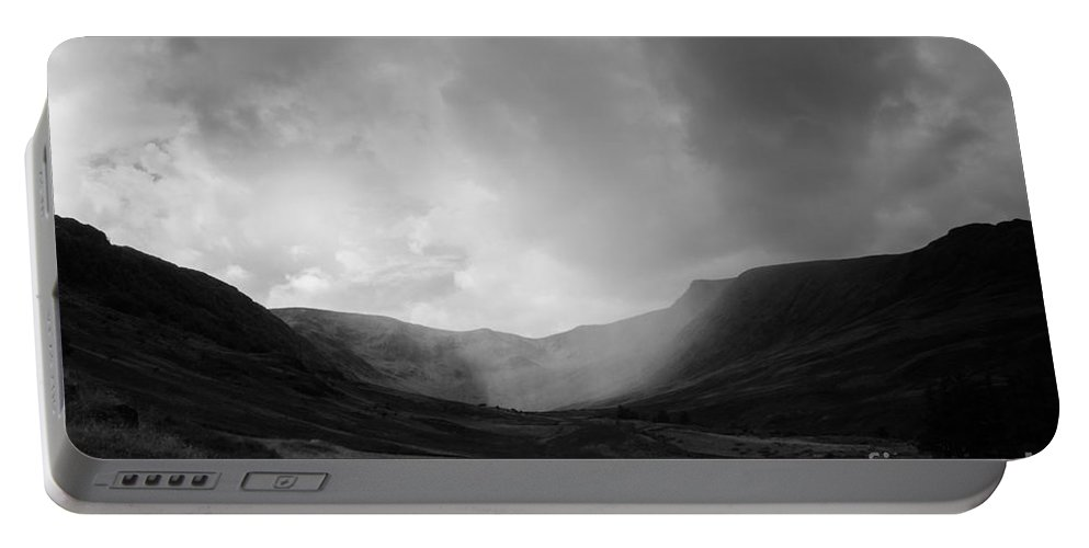 Landscape Portable Battery Charger featuring the photograph Rain In Riggindale by Kathryn Bell