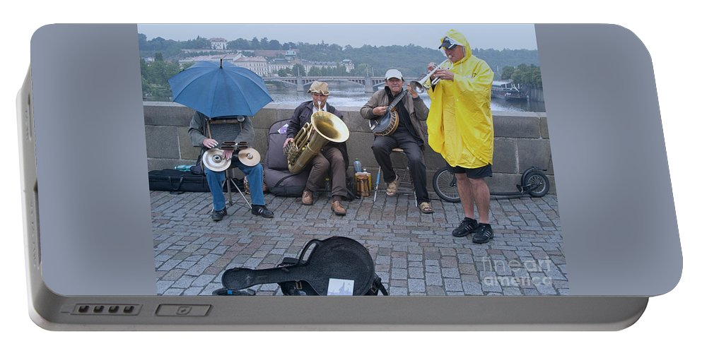 Prague Portable Battery Charger featuring the photograph Rain Or Shine by Ann Horn