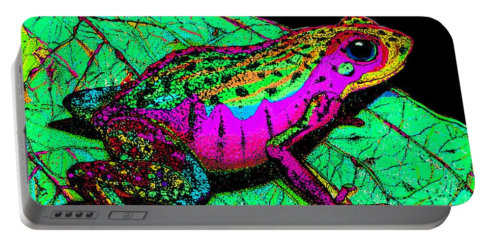 Frog Portable Battery Charger featuring the photograph Rainbow Frog 3 by Nick Gustafson
