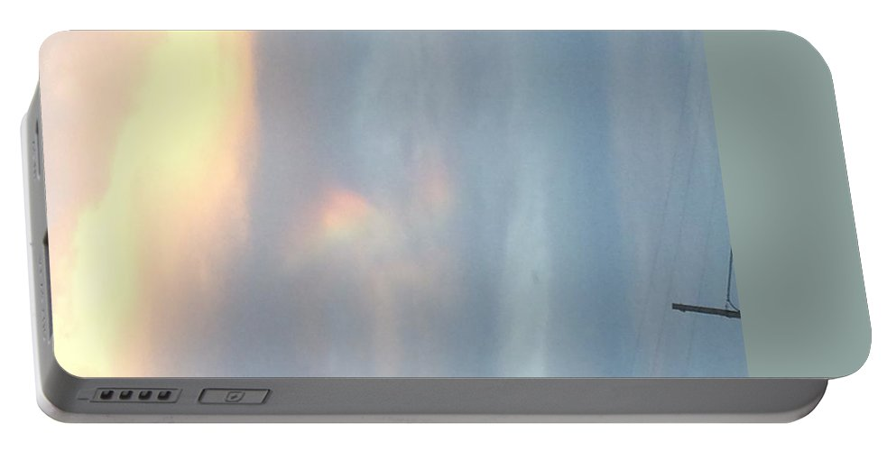 Rainbow Portable Battery Charger featuring the photograph The Promise by Jamie Johnson