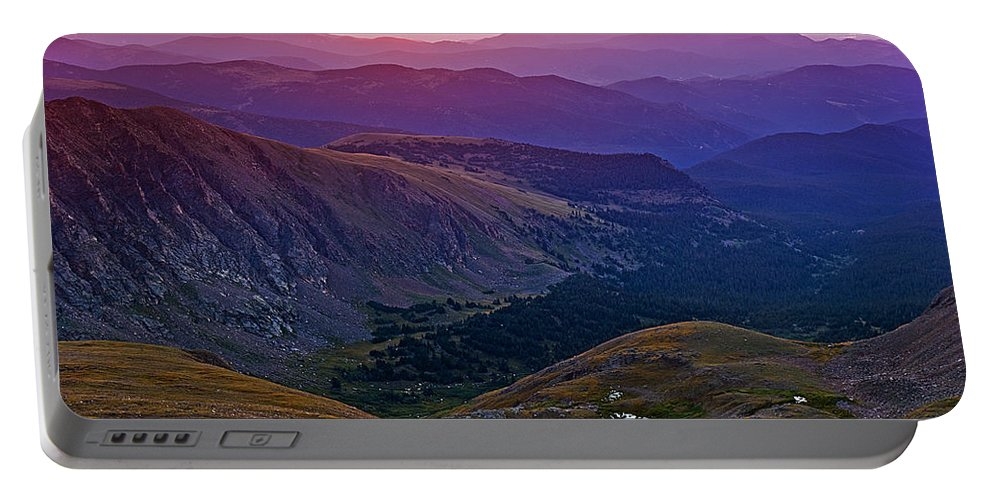 Daybreak Portable Battery Charger featuring the photograph Rainbow Sunrise by Brian Kerls