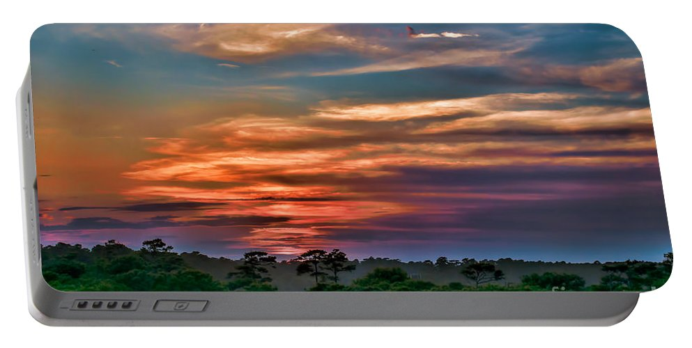 Sunset Portable Battery Charger featuring the photograph Rainbow Sunset by Photos By Cassandra