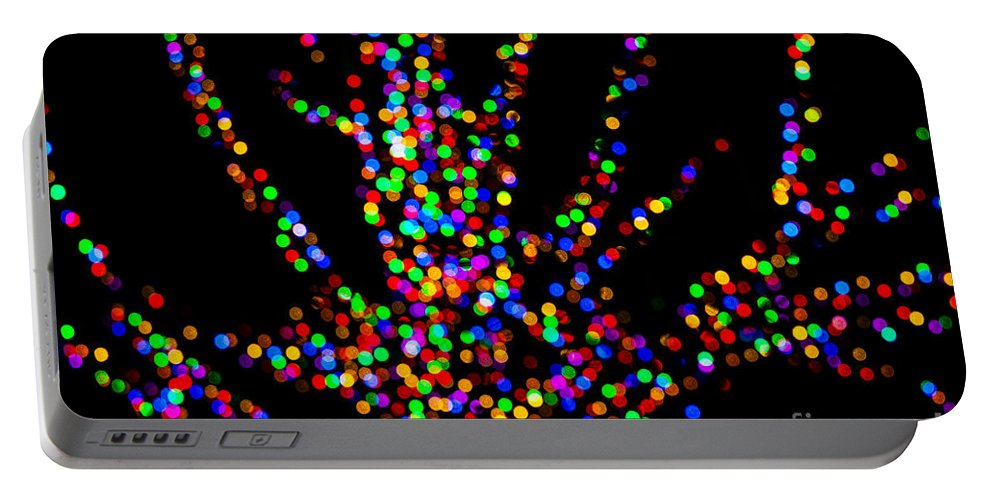 Lights Portable Battery Charger featuring the photograph Rainbow Tree by Emily Kay
