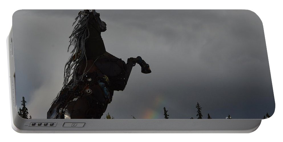 Raising Portable Battery Charger featuring the photograph Raising Rainbows by Brian Boyle