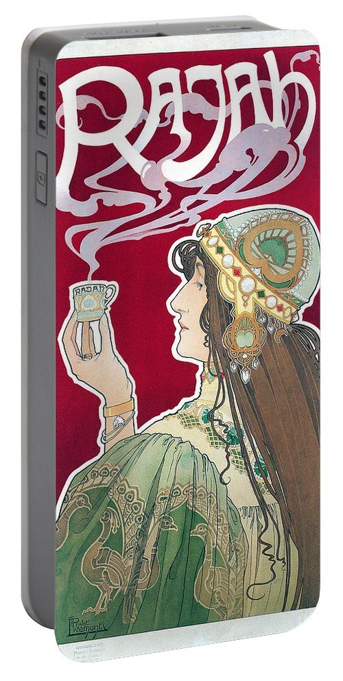 Henri Privat-livemont Portable Battery Charger featuring the painting Rajah by Henri Privat-Livemont