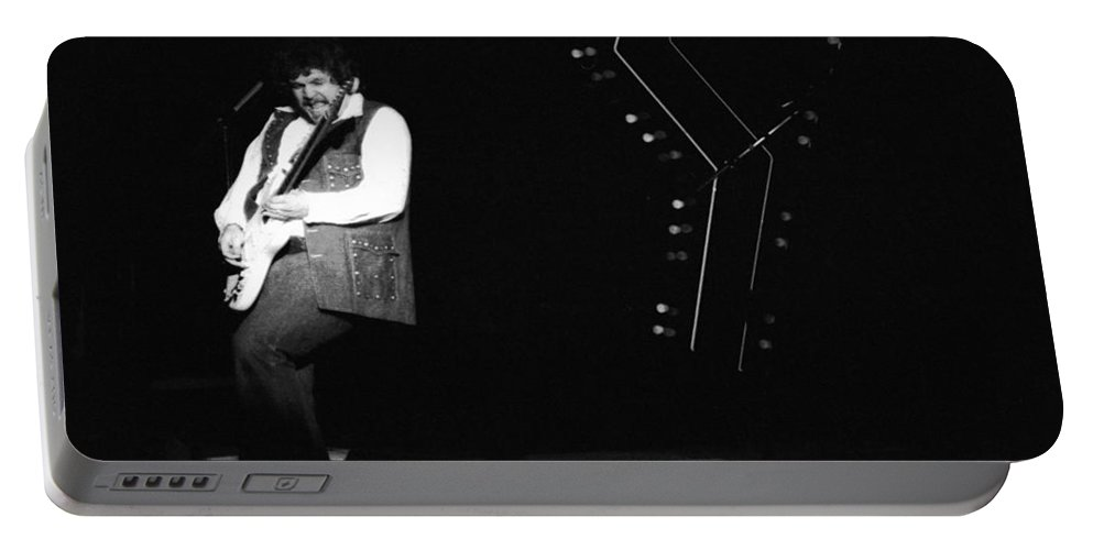 Bachman-turner Overdrive Portable Battery Charger featuring the photograph Randy Takin Care Of Business 1976 by Ben Upham