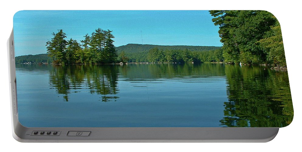 Lakes Portable Battery Charger featuring the photograph Range Pond 0050 by Guy Whiteley