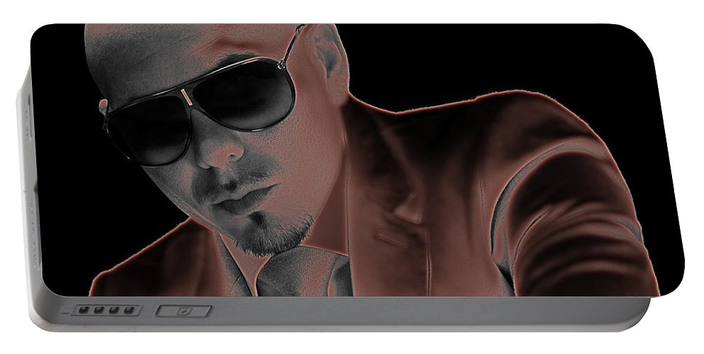 Rap Portable Battery Charger featuring the digital art Rap Pitbull by Marvin Blaine